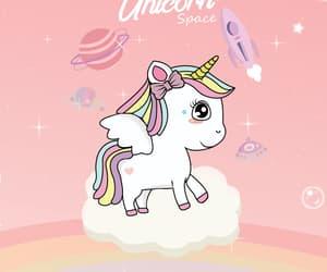 rainbow, unicorn, and wallpaper image