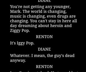 diane, iggy pop, and script image