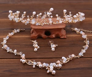 accessories, bridal jewelry, and crystal image