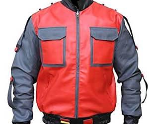 biker jacket, black jacket, and out wear image
