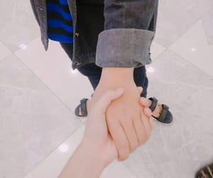 couple, holding hands, and gay couple image