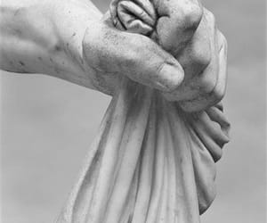 art, grey, and hands image