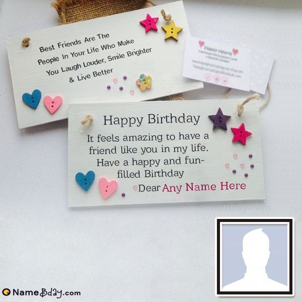 Stupendous Get Special Birthday Cards For Best Friend With Name Personalised Birthday Cards Veneteletsinfo