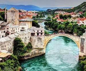 travel, Bosnia, and mostar image