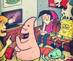 spongebob, cartoon, and weed image