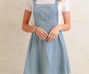 blue, dress, and light image