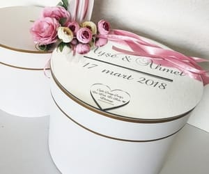 box, flower, and mariage image