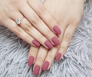 manicure, nail, and pink image