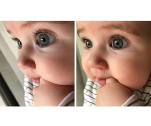 baby, eyes, and bigeyes image