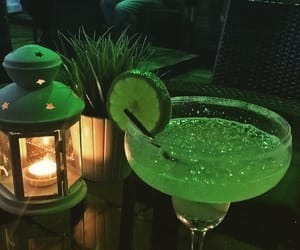 candle, drink, and green image