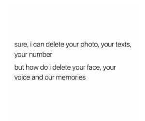 delete, ex, and face image