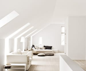 white, interior, and living room image