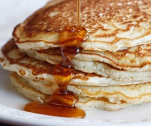 food, yummy, and pancakes image