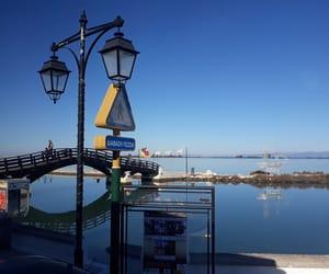 bridge, christmas, and sea image