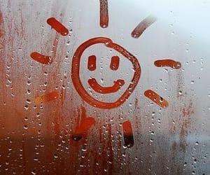 rain, sun, and smile image