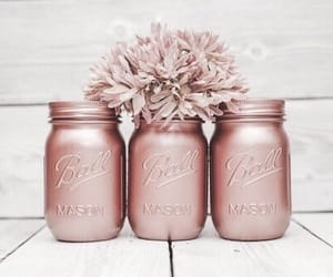flowers, pink, and rose gold image