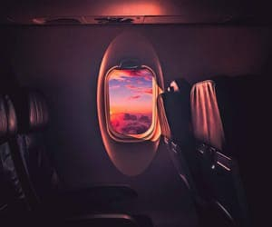 travel, sky, and sunset image