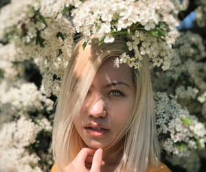 blonde, spring, and bare face image
