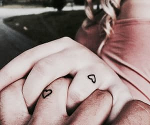 couple, minimalistic, and hearts image