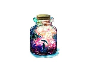 bottle, galaxy, and magic image