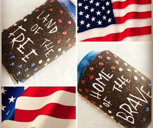 bedazzled, patriot, and red white and blue image