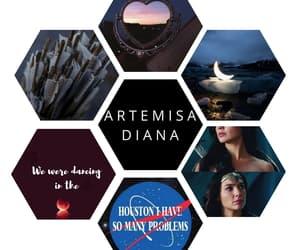 artemis, greek gods, and percy jackson image