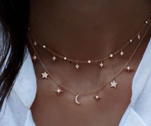 necklace, stars, and moon image