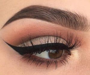 beautiful, girl, and makeup image