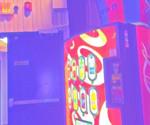 arcade, drink, and neon image