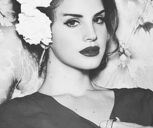 lana del rey, red, and flowers image