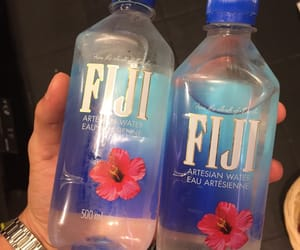 bottle, water, and fiji water image
