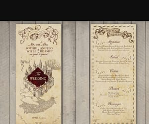 harry potter, menu, and wedding image