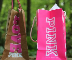 victoria secret, pink, and shopping image