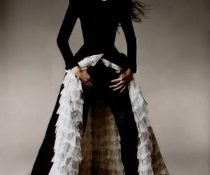 Alexander McQueen, long dresses, and notoriously couture image