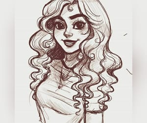 Chica, curly, and dibujo image