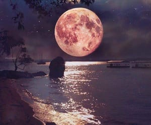 beautiful, misterious, and full moon image