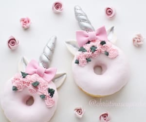 donuts, unicorn, and pink image
