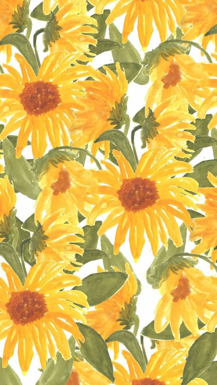 Yellow Flowers Background Discovered By Lanaholic
