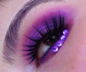 eye makeup, makeup, and purple image