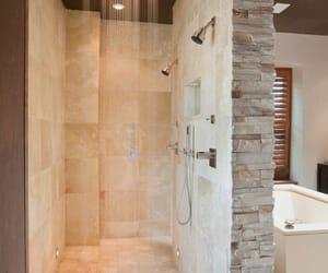 baignoire, bath, and bathroom image