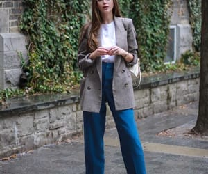 blazer, look, and ootd image