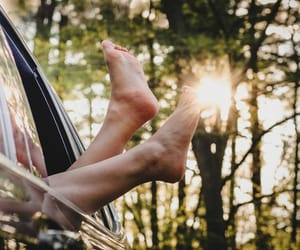 barefoot, happiness, and light image