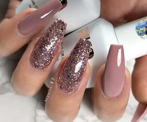 nails, ballerina, and glitter image