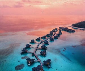 Maldives, ocean, and beach image
