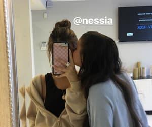 sister, mirror selfie, and cute image
