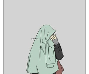 cartoon, girl, and hijab image