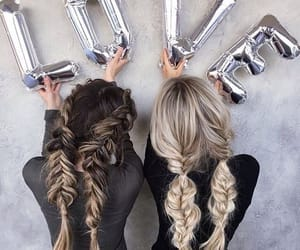 friends, hair, and braid image