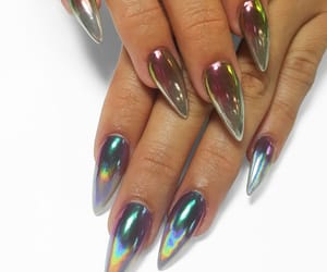 chrome, holographic, and nail goals image