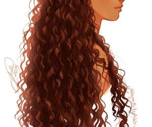 curly, draw, and cabello rizado image