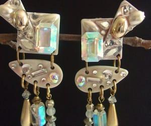 etsy, long earrings, and dangle earrings image